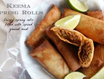 Recipe: Keema Spring Rolls