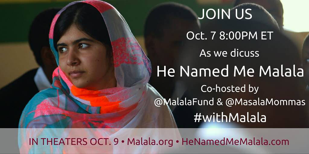 TWitter chat with Malala