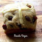 Vegan Wholemeal Fruity Hot Cross buns