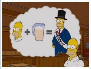 homer mas cerveza igual presidente