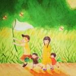 『ゆほびか11月号 』童謡CDイラスト解説④夕焼け小焼け