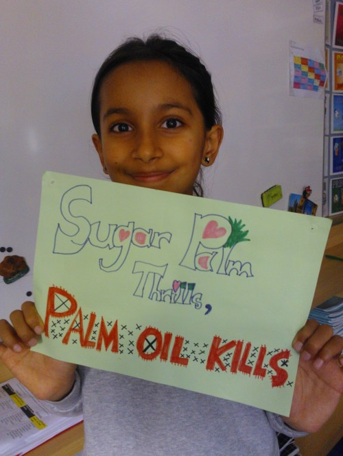 Anaya with her Poster