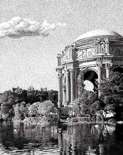 Palace of Fine Arts, San Francisco - B/W