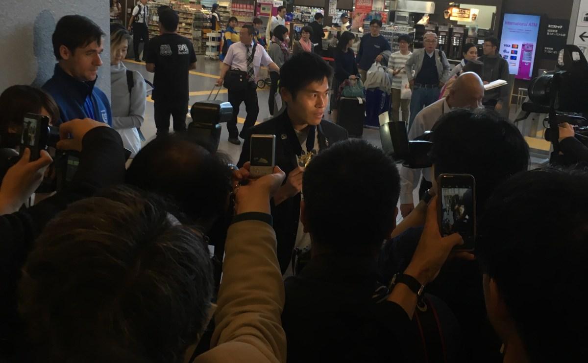 ボストンから凱旋帰国した川内優輝が成田空港で語ったこと