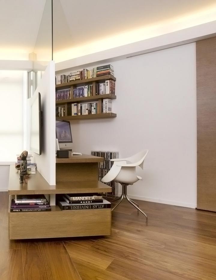 Desain Setting Kantor Konsep Minimalis Lemari Separator Meja Kerja