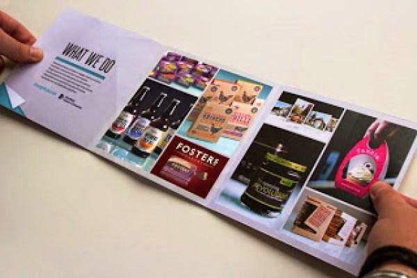 Contoh desain brosur desain kreatif - Design Futures Exhibition Materials 2