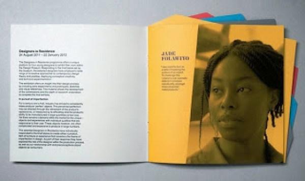 Contoh desain brosur desain kreatif - Designers in Residence 4