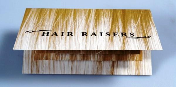 Contoh Desain Brosur Pop Up 3D Kreatif Atraktif - Desain Brosur Pop Up - Hair Raisers 1