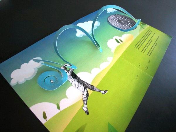 Contoh Desain Brosur Pop Up 3D Kreatif Atraktif - Desain Brosur Pop Up - Illustrations and Pop-up Book