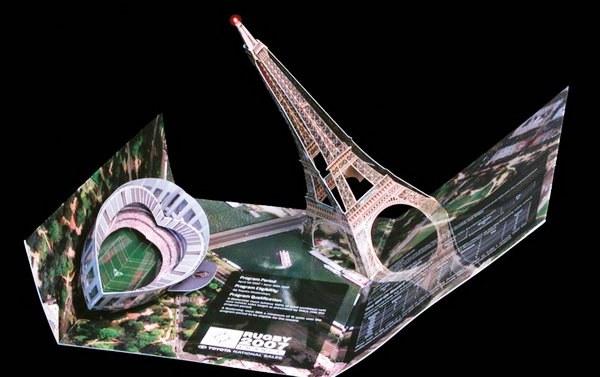 Contoh Desain Brosur Pop Up 3D Kreatif Atraktif - Desain Brosur Pop Up - Pop-Up Paris