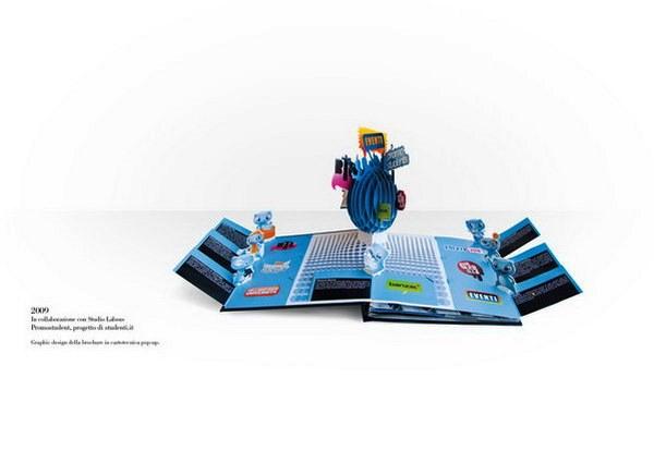 Contoh Desain Brosur Pop Up 3D Kreatif Atraktif - Desain Brosur Pop Up - Promostudent