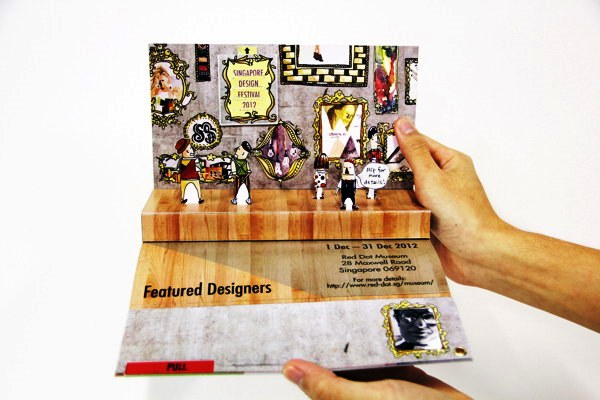 Contoh Desain Brosur Pop Up 3D Kreatif Atraktif - Desain Brosur Pop Up - SDF Pop-up Brochure