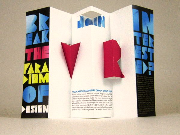 Contoh Desain Brosur Pop Up 3D Kreatif Atraktif - Desain Brosur Pop Up - Visual Resources Design Group Recruiting Brochure
