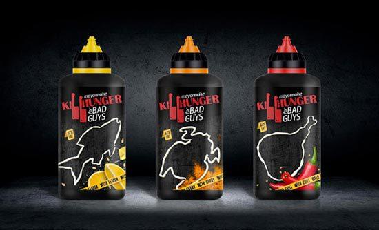 22 Contoh Konsep Desain Kemasan Produk - Konsep Desain Kemasan - Killhunger Mayonnaise Bottle Packaging Design