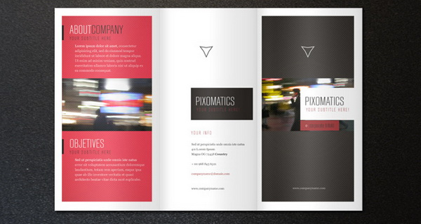 Template desain brosur format PSD EPS dan Corel gratis download