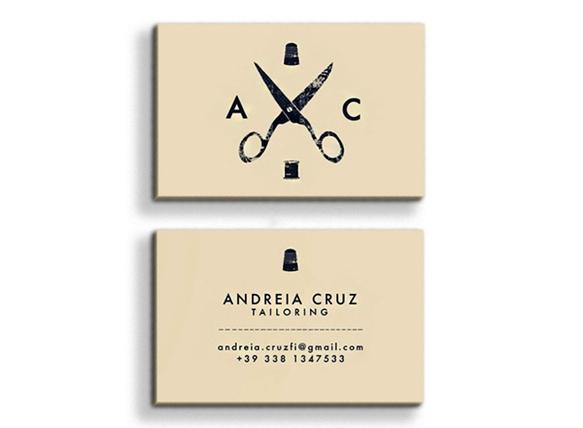 Gambar Desain Kartu Nama Terbaru - Gambar-Contoh-Desain-Kartu-Nama-Andreia-Cruz-Tailoring-by-Paula-Del-Mas