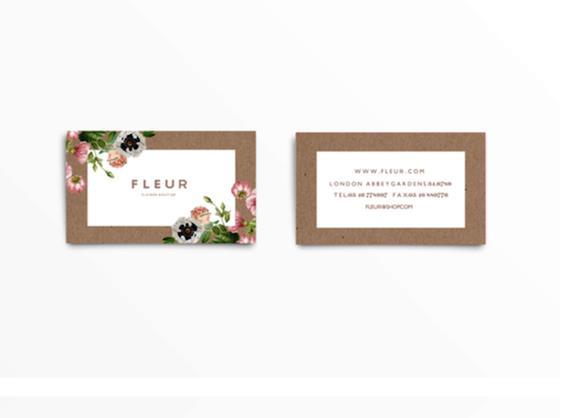 Gambar Desain Kartu Nama Terbaru - Gambar-Contoh-Desain-Kartu-Nama-Fleur-by-Judit-Besze
