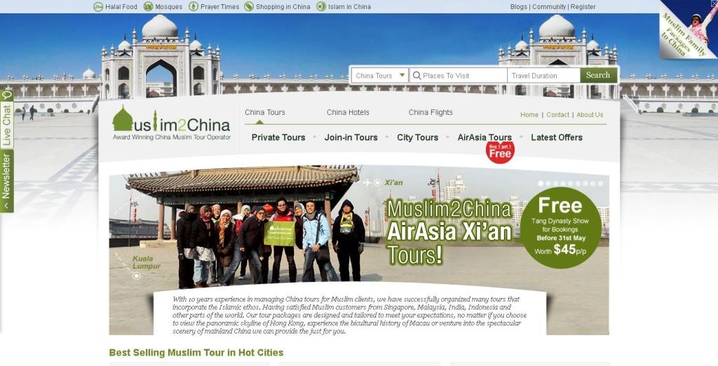 Best 9 Islamic Travel Websites With Good Seo - Islamic-Travel-Website-Muslim-2-China