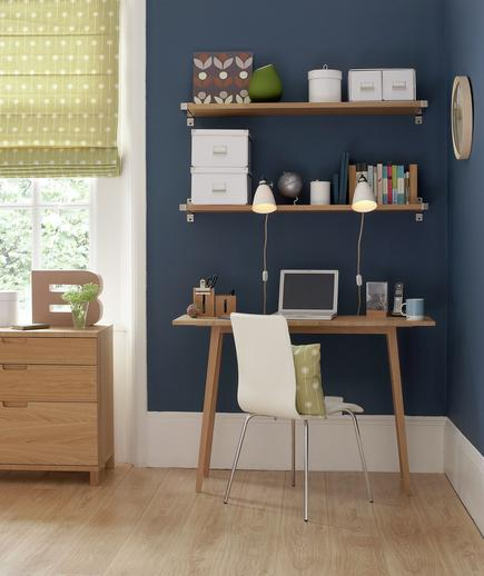 7 Tips Mendesain Kantor di Rumah - Interior kantor rumah - Studying the Blues