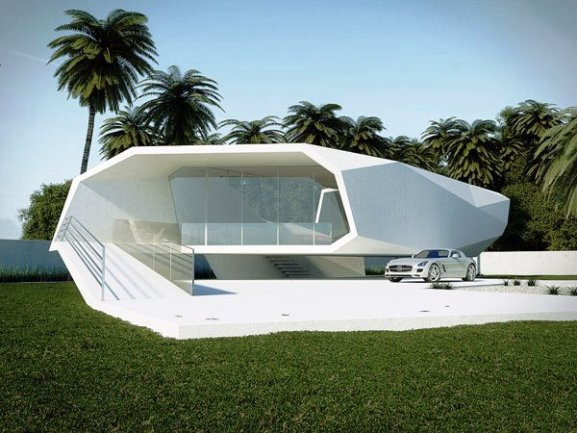 Tips Merenovasi Rumah Menjadi Type Minimalis - Stylized-wave-crushing-on-itself-shaping-a-summer-house