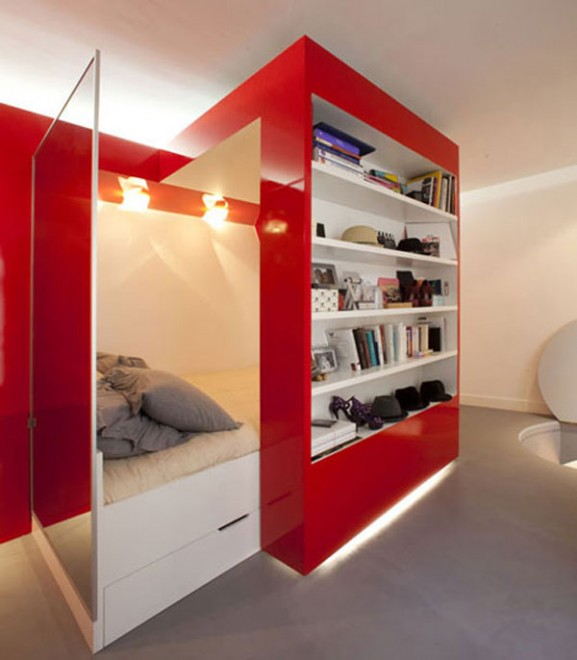 Tips Interior Apartemen Solusi Perbaiki Retak Tembok - Interior Design Narrow Room Apartement 01