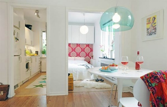 Tips Interior Apartemen Solusi Perbaiki Retak Tembok - Interior Design Narrow Room Apartement 04