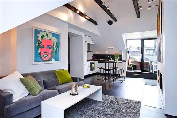Tips Interior Apartemen Solusi Perbaiki Retak Tembok - Interior Design Narrow Room Apartement 06