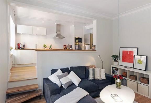 Tips Interior Apartemen Solusi Perbaiki Retak Tembok - Interior Design Narrow Room Apartement 09