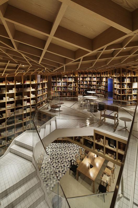 Gedung perpustakaan dengan arsitektur menginspirasi