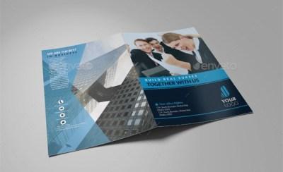 Company Profile Perusahaan Tema Biru