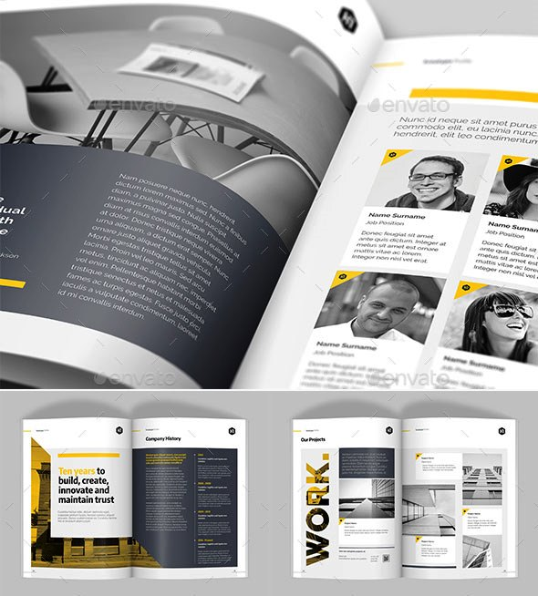 Company Profile Design Templates 01