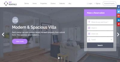Booking Rental Website Templates