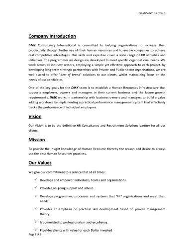 Template Company Profile Konsultan
