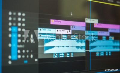 video editting timeline