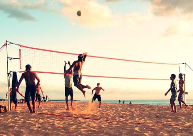 wisata pantai karang jahe rembang olahraga voley
