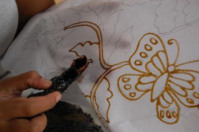 langkah-langkah membuat motif batik