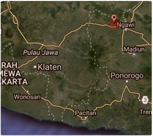 Pusat Gempa Bumi Jumat 4 November 2016 yang Guncang Kota Ngawi,Magetan, Klaten , Solo , Pati Hari Ini