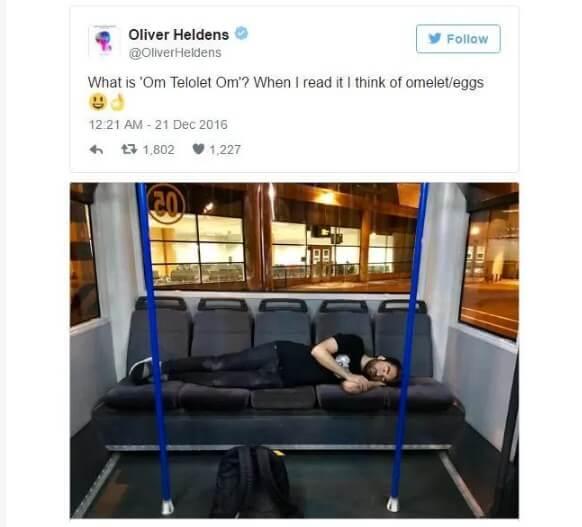 Apa itu om telolet om artinya adalah twitter dari Oliverr Heldens