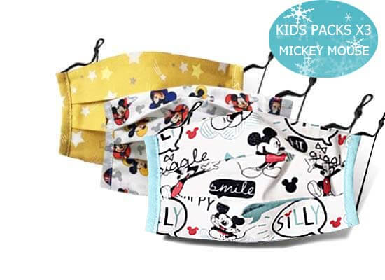 KIDS PACKS X3 MICKEY MOUSE