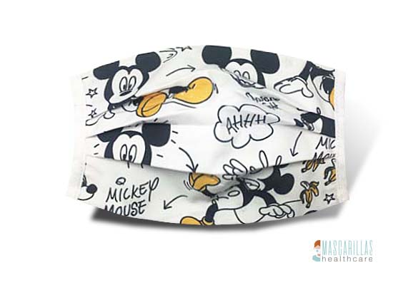 Mascarilla Yellow Mickey Mouse
