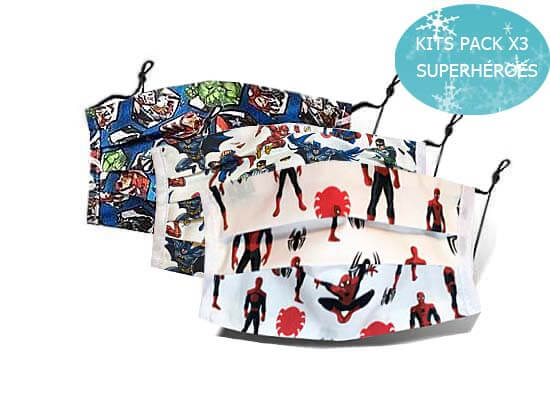 KIDS PACKS X3 SUPERHÉROES