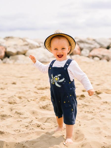 Familienfotoshooting auf dem Strand