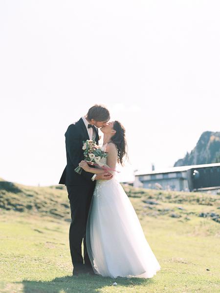 Hochzeit in bayerischen Alpen