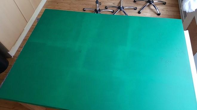 Zelf gemaakt groen scherm