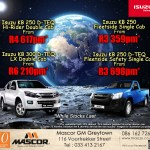 Current Isuzu Special Offers at Mascor GM Greytown