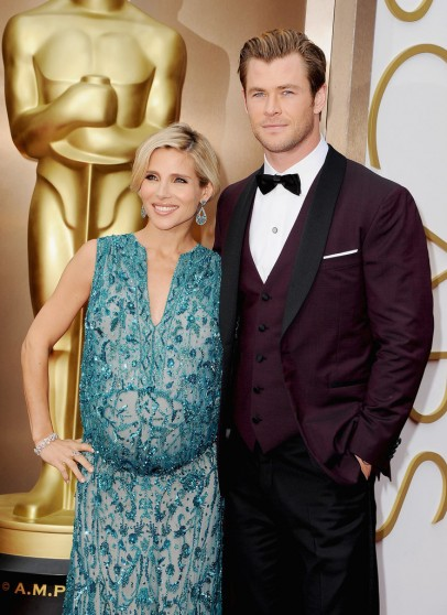Chris Hemsworth Elsa Pataky Oscars 2014 Red Carpet