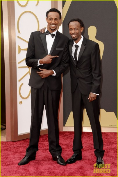 Barkhad Abdi 2014 Oscars Red Carpet