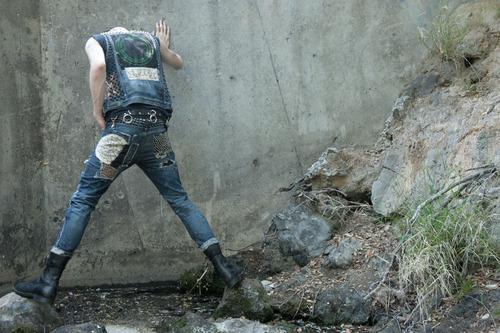 gutter punk combat boots