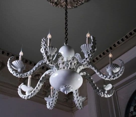 Octopus Chandelier White2