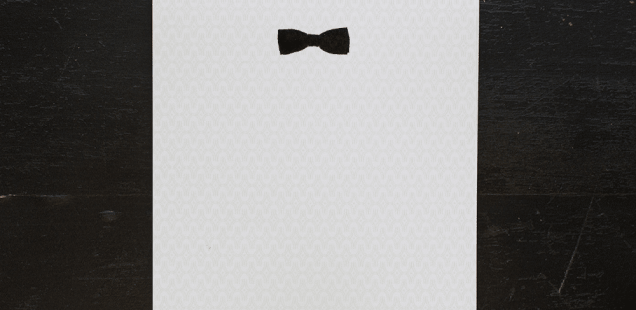 Element Of Style: Ancesserie's Bow Tie Stationery
